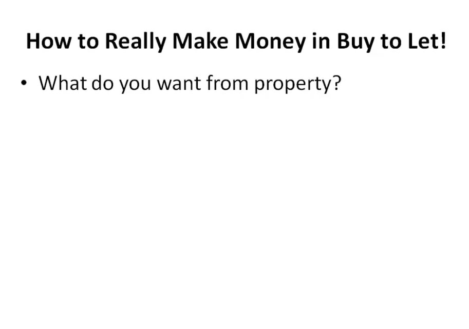 How to Really Make Money in Buy to Let